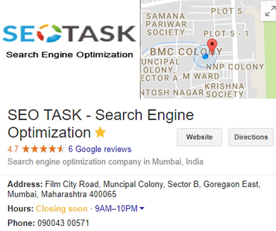 SEO Task Local Business Account